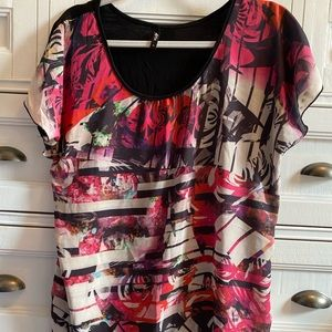 *3 FOR $10* Gorgeous sheer top size XL